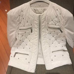 Michael Kors white studs jacket